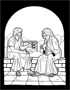 Jesus Talking With Nicodemus Coloring Page