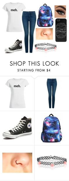 """Meh"" by shyoxic ❤ liked on Polyvore featuring moda, NYDJ, Converse y Accessorize"