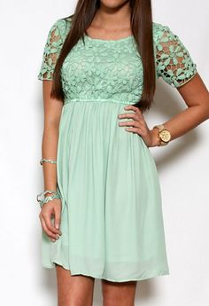 Scoop Back Dress with Embroidered Top-- paired with a headband and bracelets!!!  #privategallery #PGpackinglist