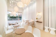 slide image Cafe Interior Design, Cafe Design, Store Design, Interior Decorating, Cafe Counter, Shop Facade, Coffee Shop Design, Home Room Design, House Rooms