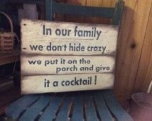 Pallet wood sign In our Family Porch Sign