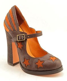 Another great find on #zulily! Brown Star Calle Leather Pump by N.Y.L.A. Shoes #zulilyfinds