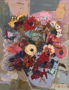 Lynn Whipple-Blue Pot of Blooms