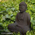 Garden Buddha Sculpture (Indonesia) | Overstock.com Shopping - The Best Deals on Garden Accents
