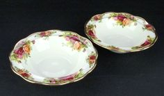 2 Royal Albert Old Country Roses Avon Bowls 1962-73 1st Quality VGC