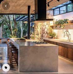 Modern Kitchen Design, Modern House Design, Interior Design Kitchen, Dream Home Design, Cuisines Design, Home Decor Kitchen, Future House, Architecture Design, Sweet Home