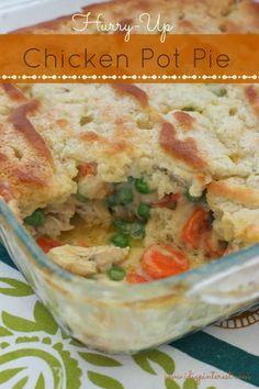 Hurry-Up Chicken Pot Pie #weeknightrecipe #yum #warmdinner