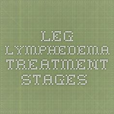 Leg Lymphedema Treatment Stages