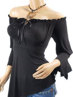Patty Women Cute Off Shoulder Bell Sleeve Blouse Top - http://cheune.com/a/41635388415306809