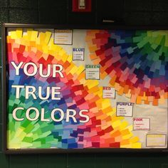 True Colors bulletin board