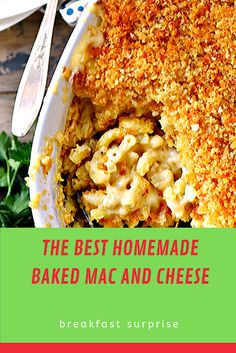 #THE #BEST #HOMEMADE #BAKED #MAC #AND #CHEESE    The BEST Homemade Mac and Cheese of your LIFE. Outrageously cheesy, ultra creamy, and topped with a crunchy Panko-Parmesan topping, this mac and cheese recipe is most definitely a keeper. I used three different cheese and a homemade cheese sauce to take this macaroni and cheese recipe over the top. Love cheesy recipes? Make sure to try this Lazy Day Lasagna and Cheesy Kielbasa Rice and Broccoli Skillet next week for dinner! Relish Recipes, Cheesy Recipes, Carrot Recipes, Bacon Recipes, Appetizer Recipes, Dessert Recipes, Escarole Recipes, Argula Recipes, Desert Recipes