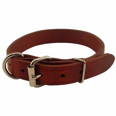 Everyone asks where I get my pups dog collars. These are cheap and they put an engraved name plate on them as well. No jingle-jangle since they are flat. They last forever and only $8 for a leather collar.