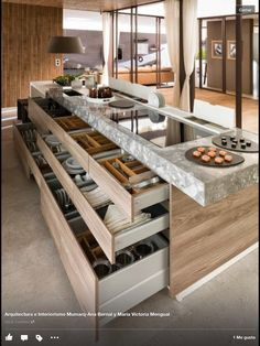 love drawers rather than cabinets, sometimes even those double-layer drawers for silverware and stuff