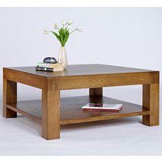 Santana Rustic Reclaimed Oak Square Coffee Table 100 x Solid Oak Furniture, Wood Furniture Living Room, Lounge Furniture, Home Decor Furniture, Furniture Ideas, Solid Oak Coffee Table, Rustic Coffee Tables, Cool Coffee Tables, Oak Table