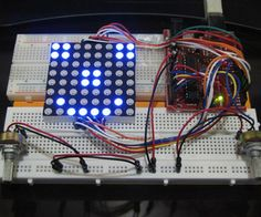 Pong with 8x8 Led Matrix on Arduino