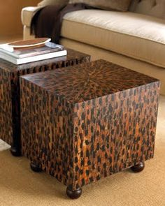 love these coffee tables ~ French Madame
