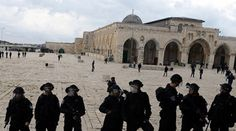 A group of Israeli settlers, early Sunday, stormed Al Aqsa Mosque courtyards from Al Magariba gate, under heavy guard by Israeli police, and attacked students, according to local sources.