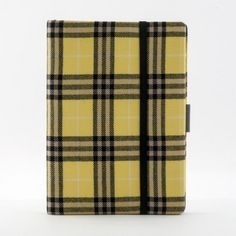 Bethge | Whitebook Notebook iPad mini in yellow and black. Burberry style.