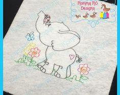 Items similar to Elephant 1 Color Work Vintage Stitch Machine Embroidery Design on Etsy Best Embroidery Machine, Baby Embroidery, Applique Embroidery Designs, Vintage Embroidery, Embroidery Files, Embroidery Stitches, Lazy Daisy Stitch, Baby Painting, Applique Monogram
