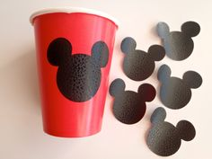 12 Vinyl Cup Stickers Decals Mouse Ears Theme Birthday Party READY to SHIP by FeistyFarmersWife by FeistyFarmersWife on Etsy https://www.etsy.com/listing/186797743/12-vinyl-cup-stickers-decals-mouse-ears