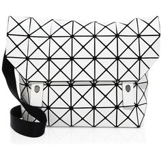 Bao Bao Issey Miyake Bao Bao Rock Matte Messenger Bag (2,915 ILS) ❤ liked on Polyvore featuring bags, messenger bags, rock bag, lining bag, geometric bag, courier bag and geo bag