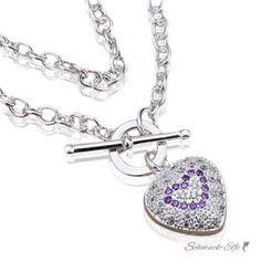 @EasiestFun @ezpopsy #Accessories #Jewelry #Crafts #Necklace #style #Fashionwomen #women #2016 #girls #sexy Herz  Collier  Zirkonia 925  Silber im Etui
