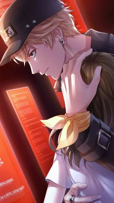 The most used romance cliché. Cool Anime Guys, Handsome Anime Guys, Hot Anime Boy, Anime Love Couple, Cute Anime Couples, I Love Anime, Manga Couple, Anime Cupples, Kawaii Anime
