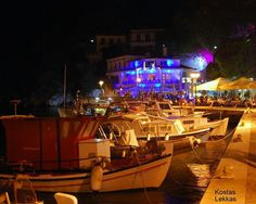 Skiathos town by night - been here!
