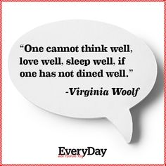 Virginia Woolf on Food