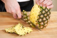 How to undress pineapple.  Strip down the fruit and get at the good stuff.