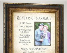 Anniversary Gift for Parents Golden Anniversary, Handmade Anniversary Gifts from PhotoFrameOriginals Custom Photo Mats - Anniversary Gift 50 Anniversary Gifts Parents Anniversary Handmade Anniversary Gifts, Golden Anniversary Gifts, Anniversary Gifts For Parents, 50th Wedding Anniversary, Anniversary Photos, Thank You Gift For Parents, Wedding Gifts For Parents, Personalized Picture Frames, Grandparent Gifts
