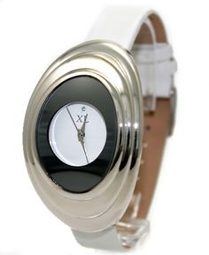 White Band Elliptikus PNP Shiny Silver Watchcase tükör Fashion Watch FW656B