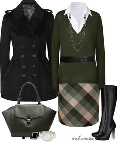 """""""Autumn Plaid"""" by archimedes16 on Polyvore"""