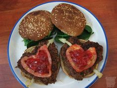 Heart Shaped Burgers for the kids on Valentine's Day!