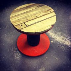 Coffee table made by me #upcycle #handmade #renewremake #wood #reel