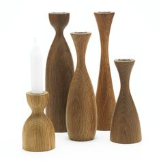 Wooden candle stick holders....