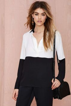 Nasty Gal Off the Block Color Block Blouse | Shop What's New at Nasty Gal