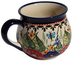 Polish Pottery Mug 8 Oz From Zaklady Ceramiczne Boleslawiec 1452149 Art Signature Pattern Capacity 8 Oz *** Visit the image link more details.