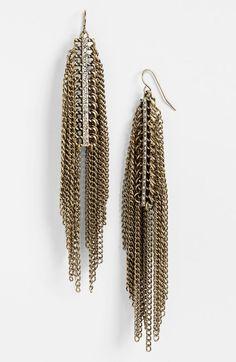 Fringe Drop Earrings (Juniors) (Online Only) http://picvpic.com/women-jewellery-earrings/fringe-drop-earrings-juniors-online-only#gold~~crystal