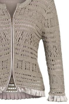 The yarn of the Semenovsky factory, cotton, on a bobbin, the yardage is about 350 m. Crochet Jacket Pattern, Crochet Patterns, Crochet Cardigan, Pull, Crochet Projects, Knitting, Cotton, Jackets, Clothes