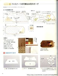 """Photo from album """"Happy Quilts Akemi on Yandex. Sewing Hacks, Sewing Tutorials, Bag Pattern Free, Thing 1, Japanese Books, Patch Quilt, Pattern Paper, Handicraft, Quilts"""