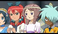 Aoi Sorano, Midori Seto, Akane Yamana and Kurama Norihito  Skie Blue, Jade Green, Rosie Red and Michael Ballzack