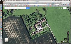 Monty Don's Garden at Longmeadow, aerial map (not to be pervy, but to get scale and size of the gardens! I promise!)
