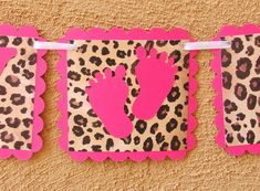 baby shower  leopard | BABY SHOWER PACKAGE - Hot Pink & Leopard Print Banners - Reserved
