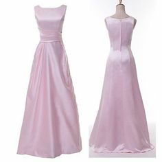 Hot Long Satin Cocktail Homecoming Gown Evening Dress Bridesmaid Prom Party Gown | eBay