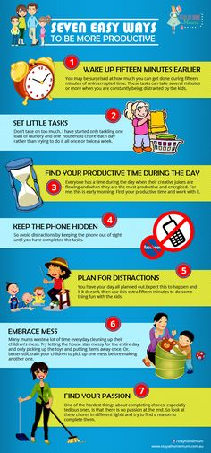 Seven Easy Ways to be More Productive | Stay at Home Mum