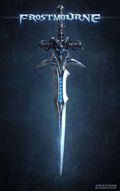 Fantasy Sword, Fantasy Weapons, Fantasy Rpg, Dark Fantasy Art, Final Fantasy, World Of Warcraft Game, Warcraft Art, Knight Sword, Death Knight