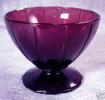 purple depression glass   Purple AMETHYST Depression Glass NEWPORT Sherbet Cups Completed