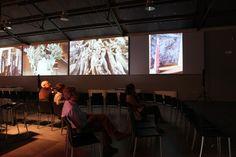 Le video interviste sono presentate sui grandi schermi in dotazione al museo, in una ambientazione suggestiva caratterizzata da un'atmosfera particolare che stimola l'immaginazione degli ospiti http://www.musapietrasanta.it/content.php