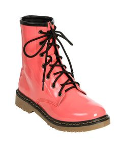 Patent Leather Combat Boot   Shop Just Arrived at Wet Seal